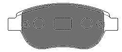 Колодки тормозные передние Mapco 65486548