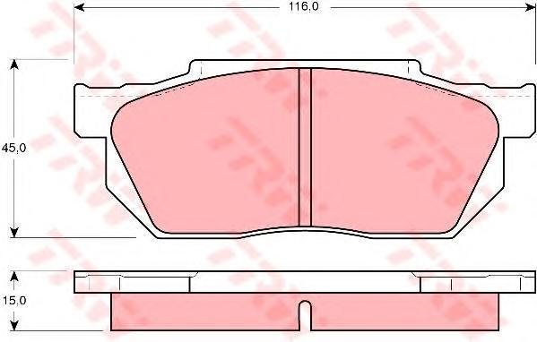 Колодки тормозные дисковые TRW/Lucas GDB358GDB358