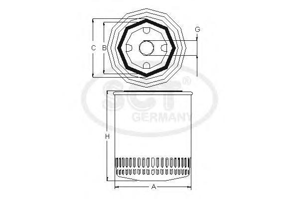 Масляный фильтр SKODA RAPID 12-/OCTAVIA/VAG GOLF V/VI/ 07-13 1.2/1.4 TSISM5085