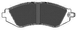 Колодки тормозные передние Mapco 65186518