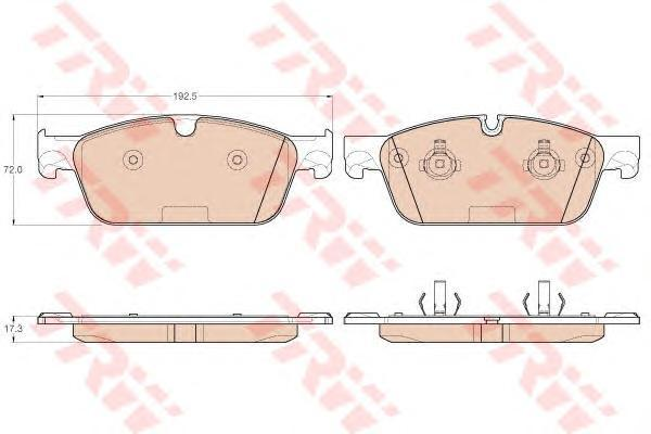 Колодки тормозные передние TRW/Lucas GDB1970GDB1970