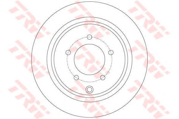 Диск тормозной задний TRW/Lucas DF6177 комплект 2 штDF6177