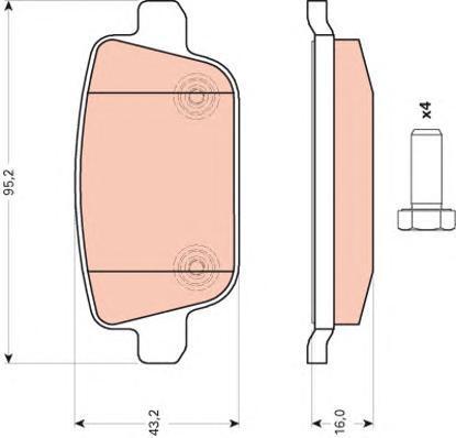 Колодки тормозные дисковые TRW/Lucas GDB1709GDB1709