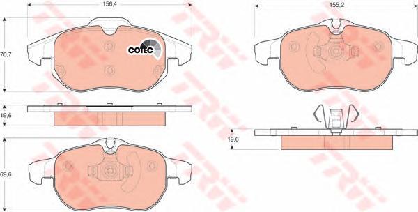 Колодки тормозные дисковые TRW/Lucas GDB1613GDB1613
