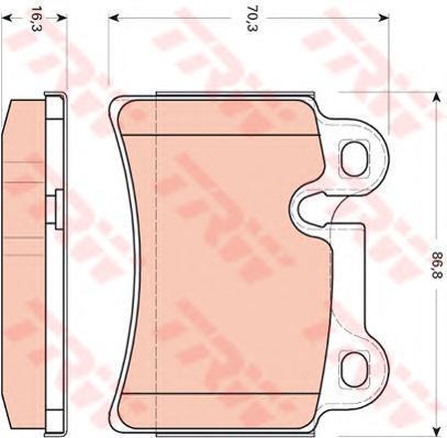 TRW / Lucas Колодки тормозные дисковые задние. GDB1722GDB1722