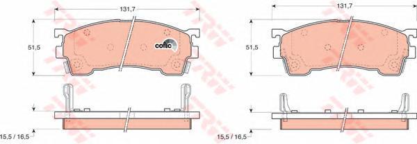 Колодки тормозные дисковые TRW/Lucas GDB1139GDB1139