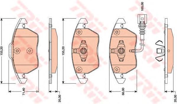 Колодки тормозные дисковые TRW/Lucas GDB1807GDB1807