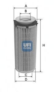 Фильтр масляный UFI. 25096002509600