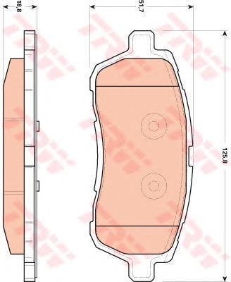 Колодки тормозные дисковые TRW/Lucas GDB1893GDB1893