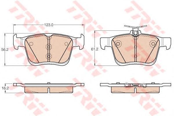 Колодки тормозные задние TRW/Lucas GDB1957GDB1957