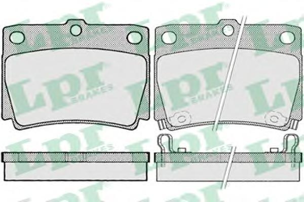 Колодки тормозные дисковые задниеLPR / AP 05P102905P1029