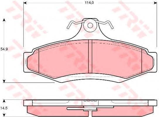 Колодки тормозные дисковые TRW/Lucas GDB3172GDB3172
