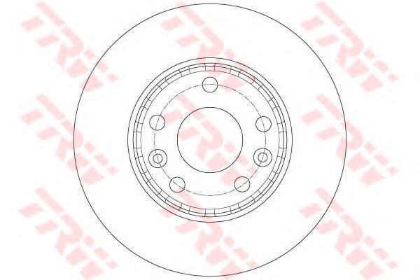 Диск тормозной передний TRW/Lucas DF6072 комплект 2 штDF6072