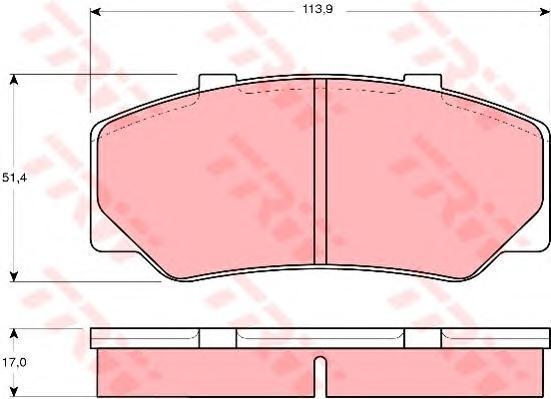 Колодки тормозные дисковые TRW/Lucas GDB329GDB329