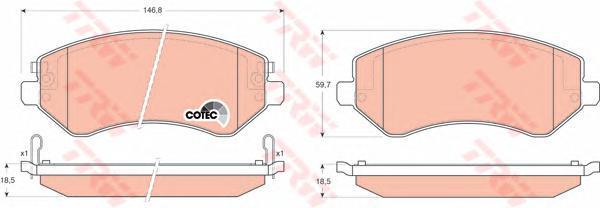 Колодки тормозные дисковые TRW/Lucas GDB4126GDB4126