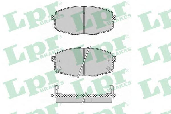 Колодки тормозные передние LPR / AP 05P137505P1375