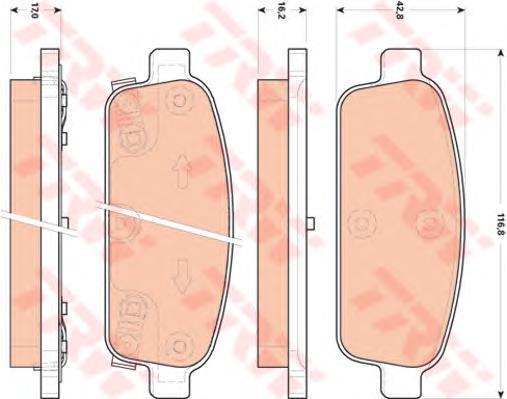 Колодки тормозные дисковые TRW/Lucas GDB1844GDB1844