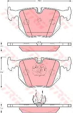 Колодки тормозные дисковые TRW/Lucas GDB1527GDB1527