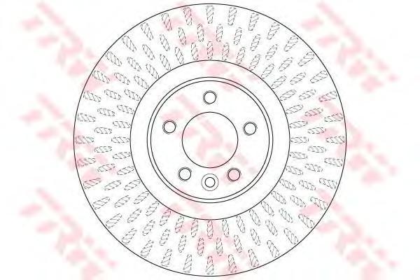 Диск тормозной передний вентилируемыйD=380мм TRW/Lucas DF6508SDF6508S