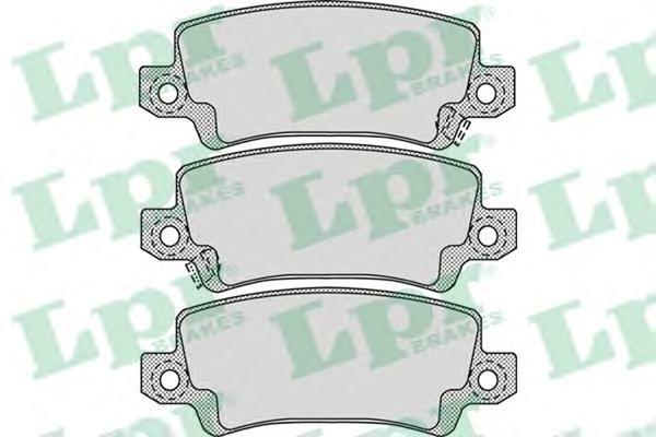 Колодки тормозные дисковые задние LPR / AP 05P106805P1068