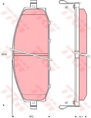 Колодки тормозные дисковые TRW/Lucas GDB3222GDB3222