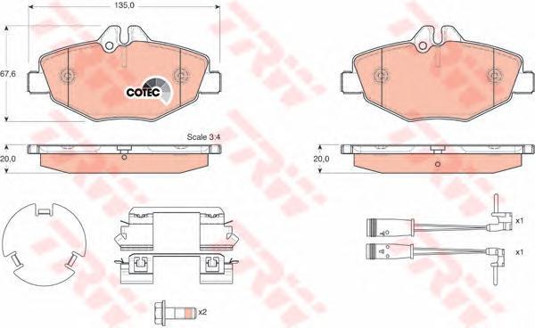 Колодки тормозные дисковые TRW/Lucas GDB1542GDB1542