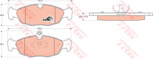 Колодки тормозные дисковые TRW/Lucas GDB1040GDB1040