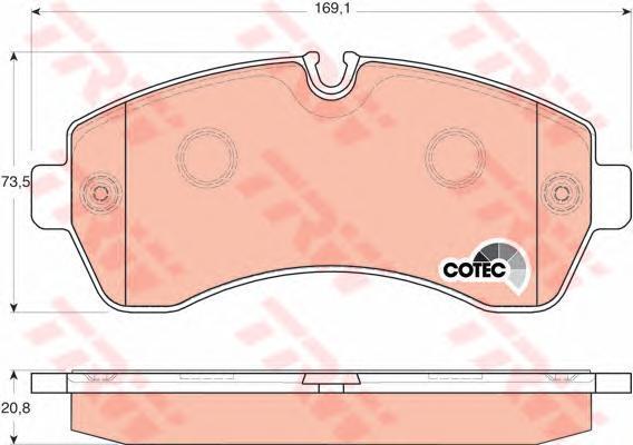 Колодки тормозные дисковые TRW/Lucas GDB1696GDB1696