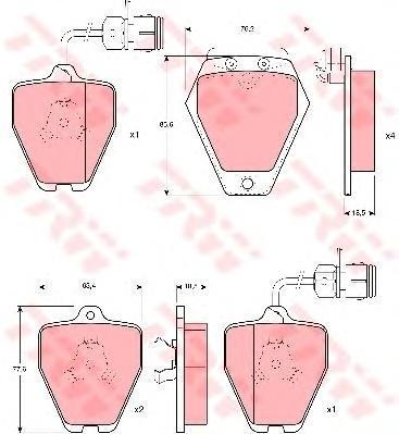 Колодки тормозные дисковые TRW/Lucas GDB1162GDB1162