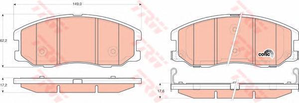 Колодки тормозные дисковые TRW/Lucas GDB1715GDB1715