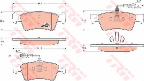Колодки тормозные дисковые TRW/Lucas GDB1672GDB1672