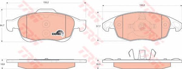 Колодки тормозные дисковые TRW/Lucas GDB1690GDB1690