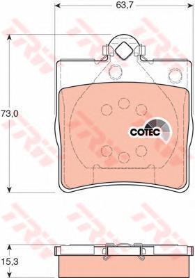 Колодки тормозные дисковые TRW/Lucas GDB1335GDB1335