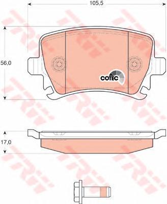 Колодки тормозные дисковые TRW/Lucas GDB1622GDB1622