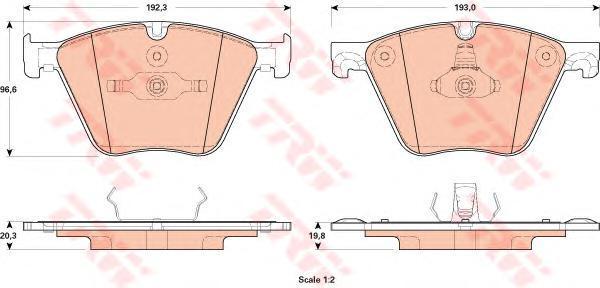 Колодки тормозные дисковыеTRW/Lucas GDB1915GDB1915