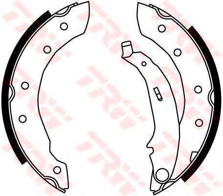 Колодки тормозные барабанные TRW/Lucas GS8729GS8729