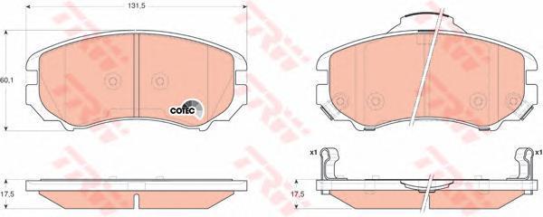 Колодки тормозные дисковые TRW/Lucas GDB3352GDB3352