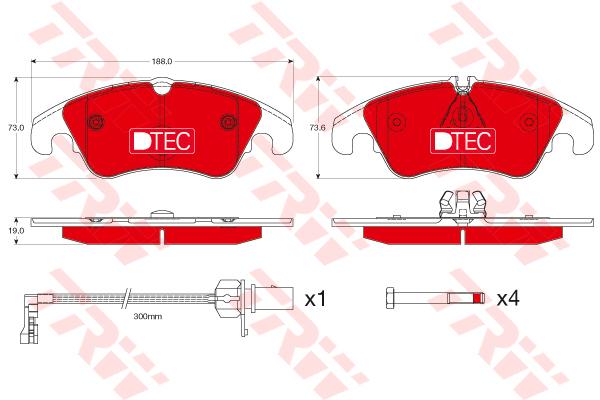 Колодки тормозные передние TRW/Lucas GDB1768DTEGDB1768DTE