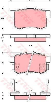 Колодки тормозные дисковые TRW/Lucas GDB3269GDB3269