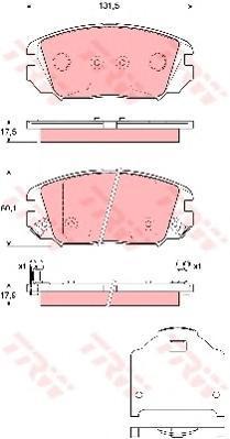 Колодки тормозные дисковые TRW/Lucas GDB3409GDB3409