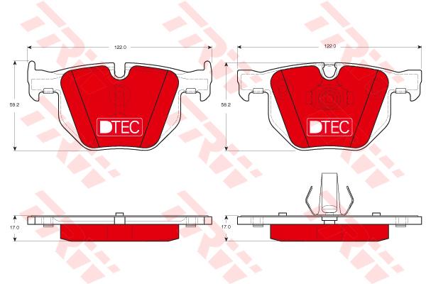 Колодки тормозные задние TRW/Lucas GDB1730DTEGDB1730DTE