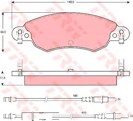 Колодки тормозные дисковые TRW/Lucas GDB1447GDB1447
