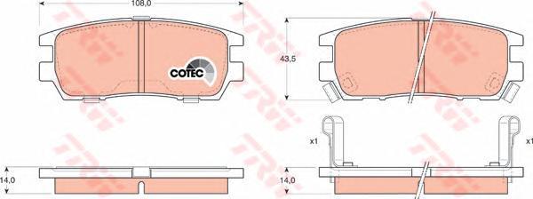 Колодки тормозные дисковые TRW/Lucas GDB1127GDB1127