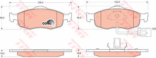 Колодки тормозные дисковые TRW/Lucas GDB1108GDB1108
