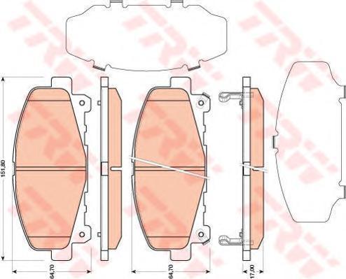 Колодки тормозные дисковые TRW/Lucas GDB3477GDB3477