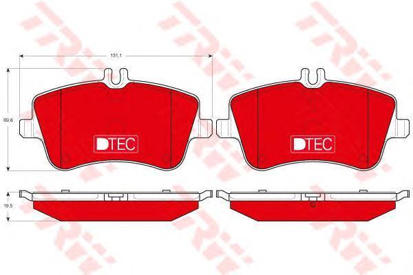 Колодки тормозные передние TRW/Lucas GDB1413DTEGDB1413DTE