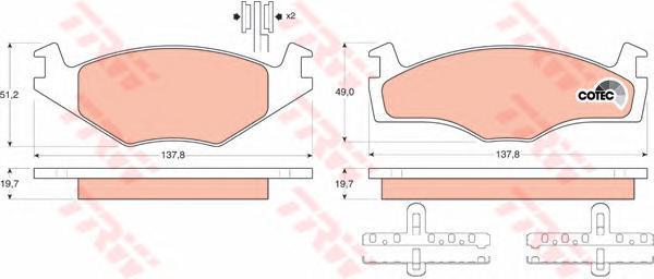 Колодки тормозные дисковые TRW/Lucas GDB454GDB454