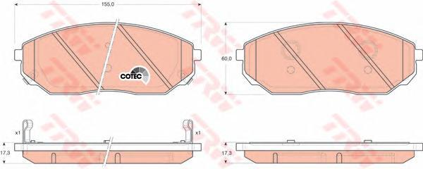 Колодки тормозные дисковые TRW/Lucas GDB3343GDB3343