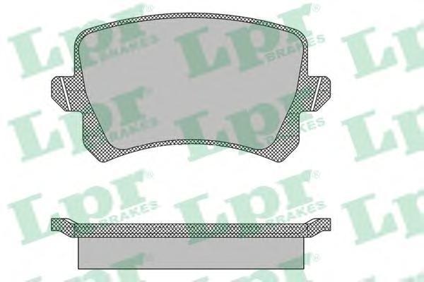 Колодки тормозные задние LPR / AP 05P139005P1390