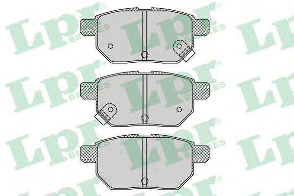 Колодки тормозные задние LPR / AP 05P131205P1312